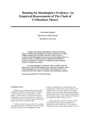 Hunting for Huntington's Evidence: An Empirical Reassessment of ...