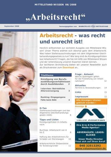 Arbeitsrecht - was recht und unrecht ist! - Unternehmer.de