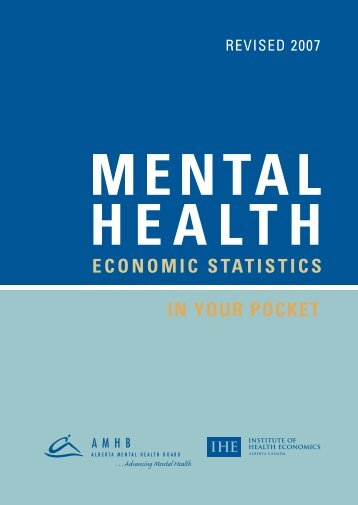 Mental Health Economic Statistics - In Your Pocket - Institute of ...