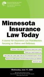 view brochure (pdf) - Minnesota CLE
