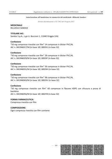 Confezione - Gazzette.info