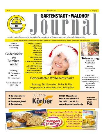 Gartenstadt Waldhof Journal November 2013 - Bürgerverein ...