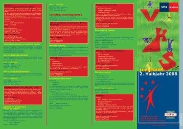 JUNGE VHS-2008-2.indd - Volkshochschule Bochum