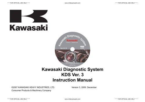Kawasaki Diagnostic System KDS Ver  3     - Military ATV Parts