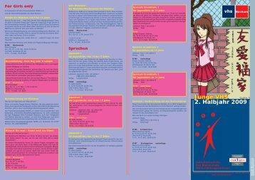 JUNGE VHS-2009-2.indd - Volkshochschule Bochum