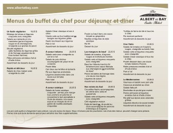 Télécharger PDF - Albert at Bay Suite Hotel