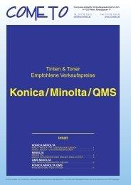 PDF-Katalog Konica/Minolta und QMS - Cometo
