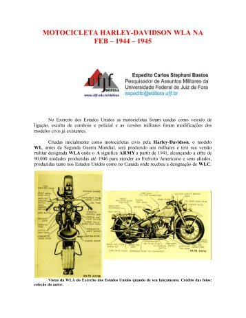 MOTOCICLETA HARLEY-DAVIDSON WLA NA FEB – 1944 – 1945