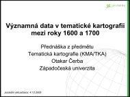 Významná data v tematické kartografii mezi roky 1600 a 1700