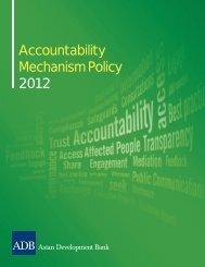 Accountability Mechanism Policy 2012 - ADB Compliance Review ...