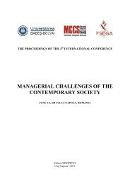 MANAGERIAL CHALLENGES OF THE CONTEMPORARY SOCIETY