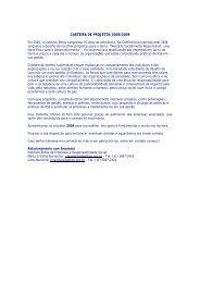 CARTEIRA DE PROJETOS 2008/2009 - Instituto Ethos