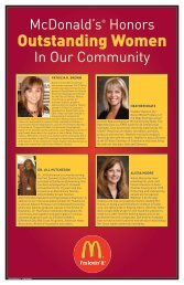 McDonald's® Honors In Our Community - Chamber Organizer