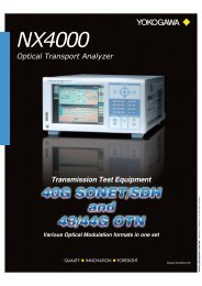 Optical Transport Analyzer NX4000 - Electro-Meters