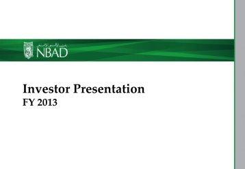 Investor presentation - National Bank of Abu Dhabi
