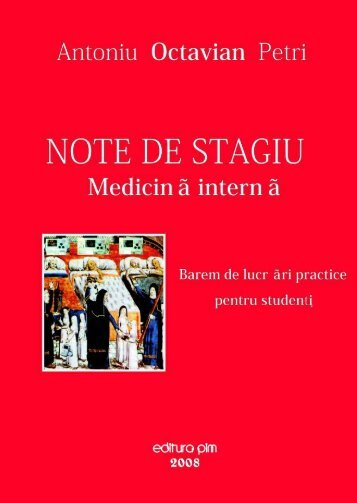 Note de stagiu - Medicina interna - PIM Copy