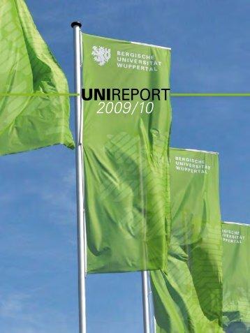 UNIREPORT 2009/10 - Bergische Universität Wuppertal