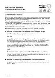 Informations clients - Welser Profile AG