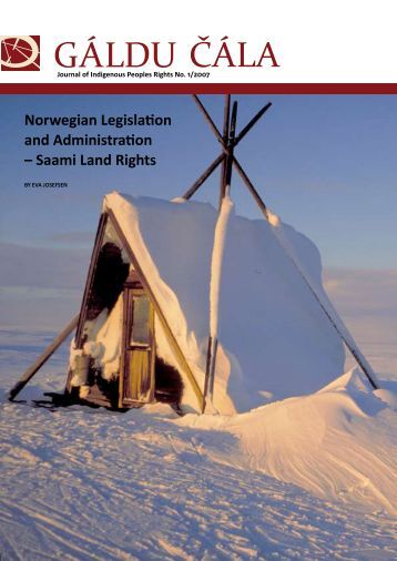 Norwegian Legislation and Administration - Gáldu - Resource ...