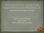 Draft Environmental Impact Statement Agency Comment Meeting ...