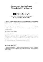 Parcs et forêts : règlement - Agglomération de Marne-la-Vallée / Val ...