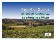 Le territoire - Pays Midi-Quercy
