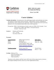 Course Syllabus - Carleton University