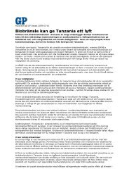 Läs artikeln från Göteborgs-Posten (PDF) - SEKAB