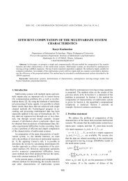 EFFICIENT COMPUTATION OF THE MULTIVARIATE SYSTEM ...