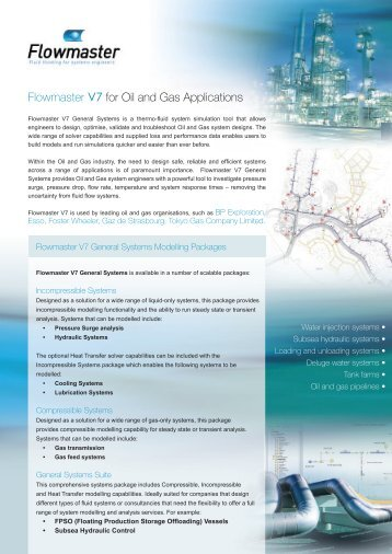 Flowmaster V7 for Oil and Gas Applications - ESSS