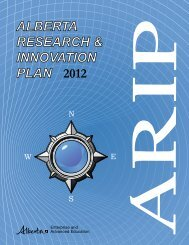 2012 Alberta Research and Innovation Plan - Enterprise and ...