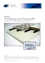 Verklebung von MonoPan® mit SABA-Produkten