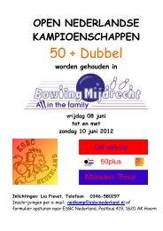 Inschrijfformulier NK Dubbel 2012 in - ESBC-Nederland