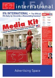 IFA International Media Kit - B-FOR International