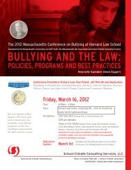 The 2012 Massachusetts Conference on Bullying at Harvard