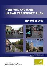 URBAN TRANSPORT PLAN - Hertfordshire County Council