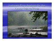 IFIM Study Presentation - Saluda Hydro Project Relicense