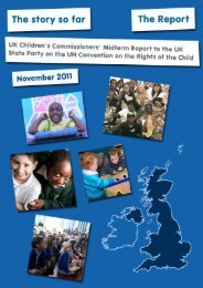 The story so far: UK Children's Commissioners' Midterm Report to ...