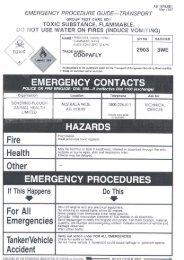 EMERGENCY PROCEDURE GUIDE—TRANSPORT - Agtech.com.au