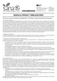 MODULO PRIVACY OBBLIGATORIO - Sana