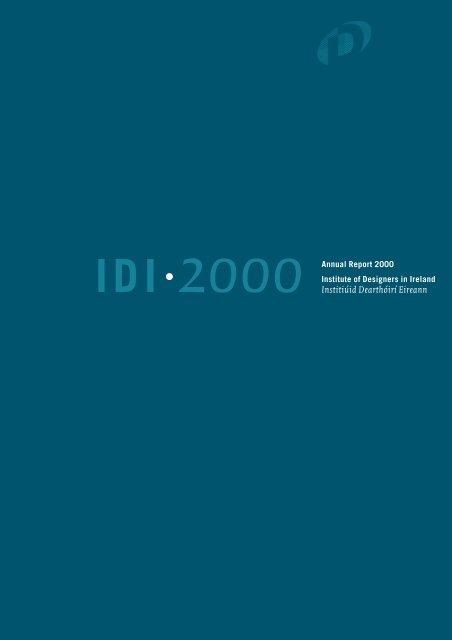 Sensational Annual Report 2000 Institute Of Designers In Ireland Beutiful Home Inspiration Semekurdistantinfo