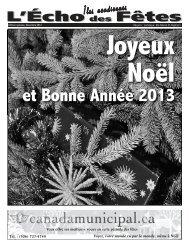 L'Écho des Fêtes, Lamèque décembre 2012 - Canadamunicipal.ca