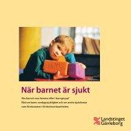 När barnet är sjukt - Landstinget Gävleborg