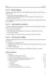 Art. 22 Baubewilligung Art. 22 Autorisation de construire ... - vlp-aspan