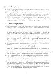 Liquid surface, Chemical equilibrium