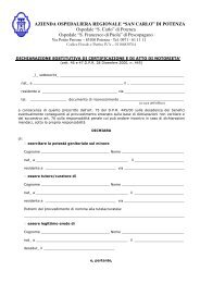 Richiesta cartella clinica: modulo 2 - Cittadini in Salute
