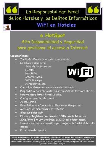 WiFi en Hoteles e.HotSpot - E-TELECOM