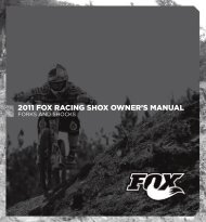 2011 FOX RACING SHOX OWNER'S MANUAL - Bike-Manual.com