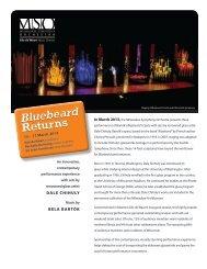 Bluebeard Returns Bluebeard Returns - Milwaukee Symphony ...