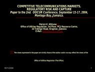 Competitive Telecommunications Markets, Regulatory ... - OOCUR